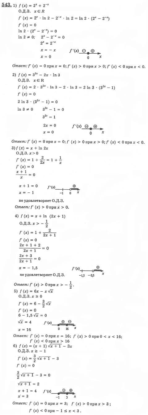 алгебре анализ 10-11 по колягин гдз класс