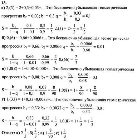 Готовые домашние задания алгебра 10 11 класса
