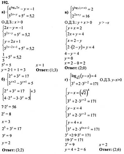 алгебре 192 по гдз