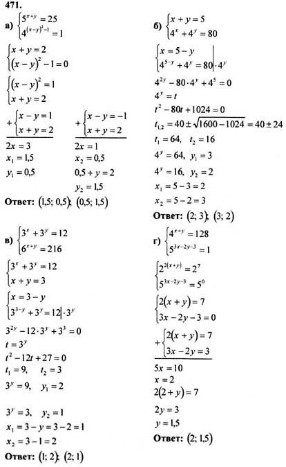 решебник книжке алгебра 10 класс