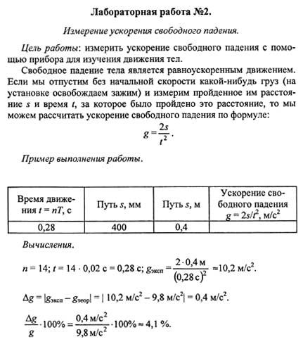 Тетрадь для лабораторных работ по физике