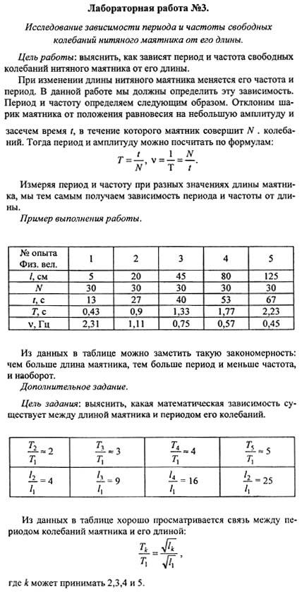 Гдз по физик для лаб работ