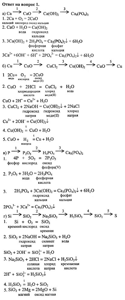 Химия 8 класс габриелян гдз 2011 года